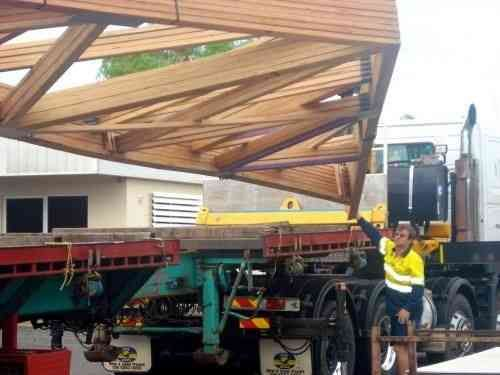 Engineered and Prefabricated Timber roof trusses built to your specifications and delivered to site.