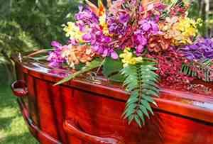 Flowers and Coffin