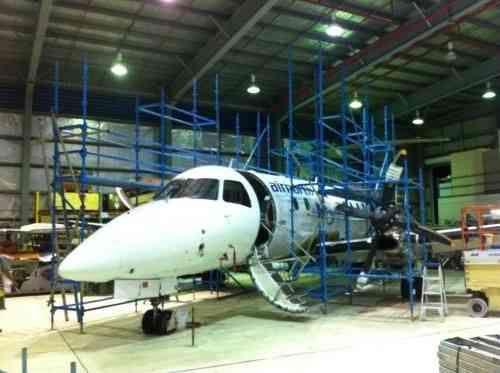 Air North DarwinHail damage on plane