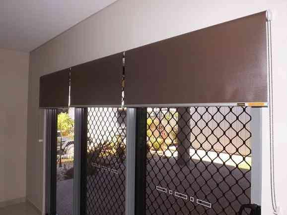 Roller blinds installed