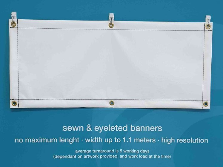 Sewn&Eyeleted Banners