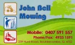 John Bell Mowing