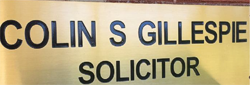 Colin S Gillespie Solicitor