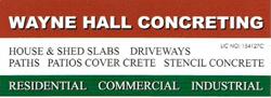 Wayne Hall Concreting