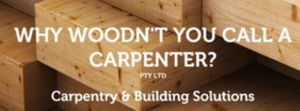 Why Woodn't You Call a Carpenter?