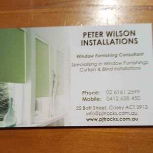 Peter Wilson Blinds and Curtains Installations