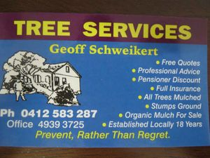 Geoff Schweikert Tree Services