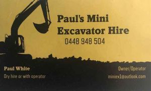 Paul's Mini Excavator Hire