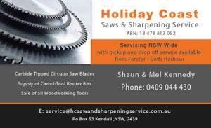 Holiday Coast Saws & Sharpening Service