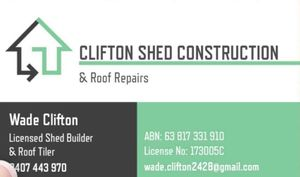 Clifton Shed Construction & Roof Repairs